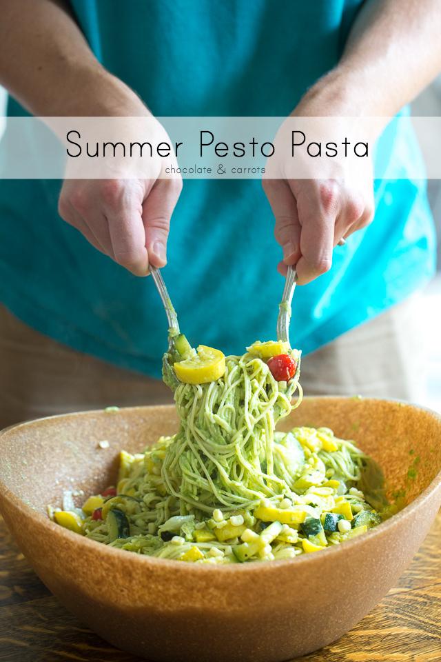 Summer Pesto Pasta | chocolateandcarrots.com