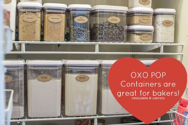 Reorganizing my pantry with OXO POP Containers #POPtober | chocolateandcarrots.com