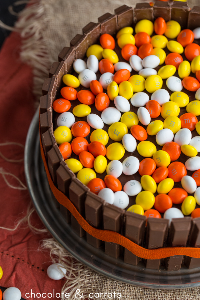 Colorful Autumn Candy Cake   chocolateandcarrots.com #halloween