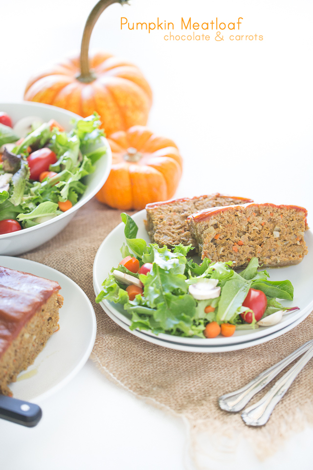 Pumpkin Meatloaf | chocolateandcarrots.com