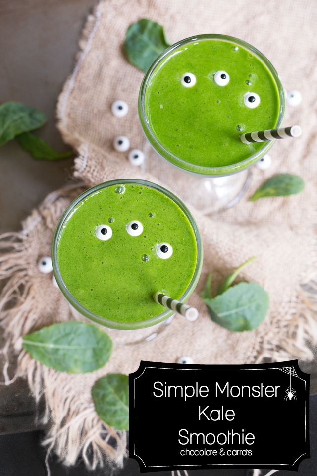 Simple Monster Kale Smoothie | chocolateandcarrots.com #halloween