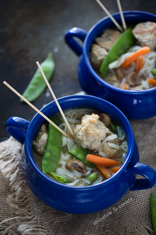 Asian Turkey Meatball Soup | chocolateandcarrots.com