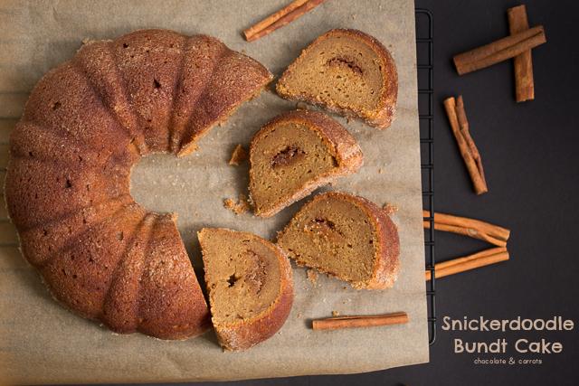Snickerdoodle Bundt Cake | chocolateandcarrots.com