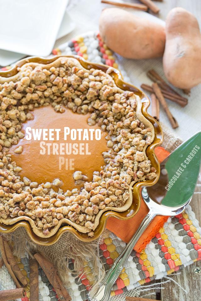 Sweet Potato Streusel Pie | chocolateandcarrots.com #thanksgiving