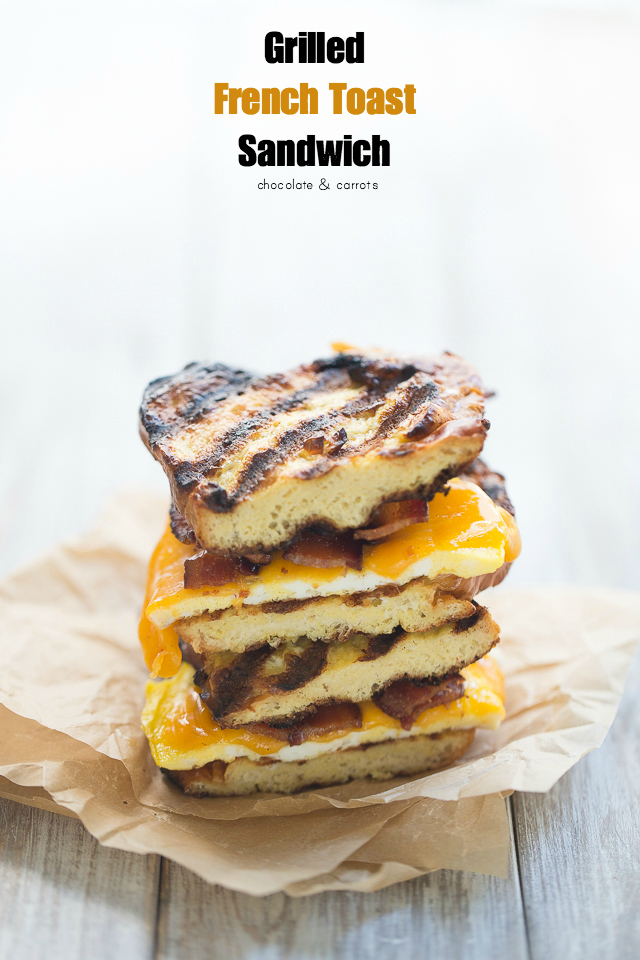 Grilled French Toast Sandwich | chocolateandcarrots.com