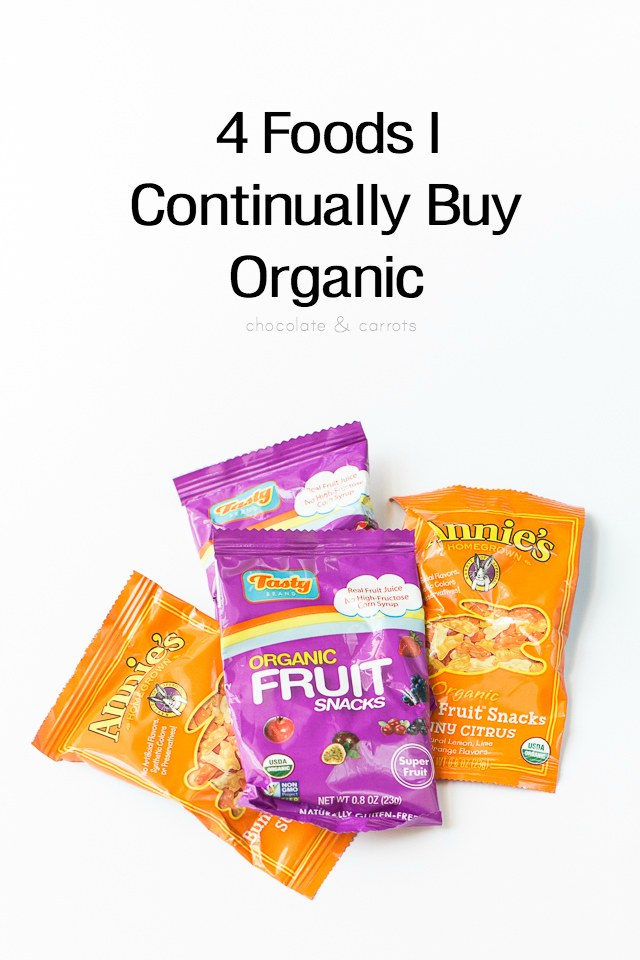 4 Foods I Continually Buy Organic | chocolateandcarrots.com