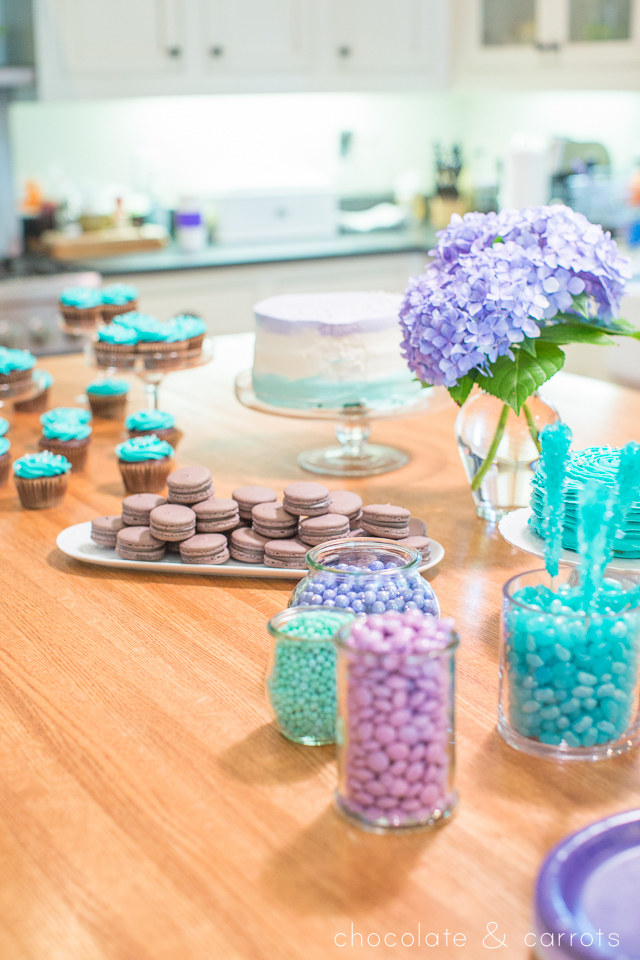 Teal and Purple Baby Shower | chocolateandcarrots.com -10