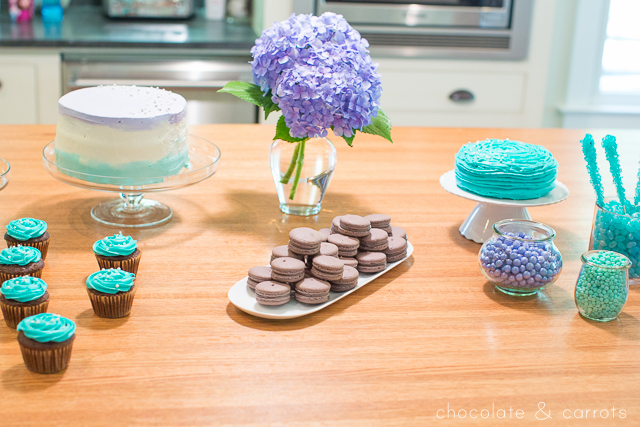 Teal and Purple Baby Shower | chocolateandcarrots.com -7