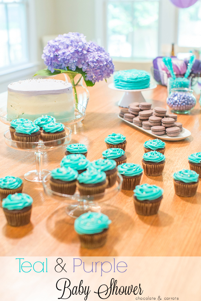 Teal and Purple Baby Shower | chocolateandcarrots.com