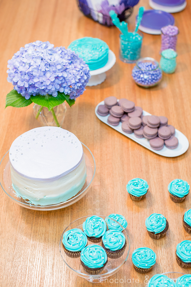 Teal and Purple Baby Shower | chocolateandcarrots.com -4