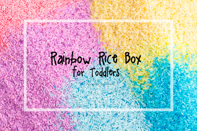 Rainbow Rice Box for Toddlers | chocolateandcarrots.com