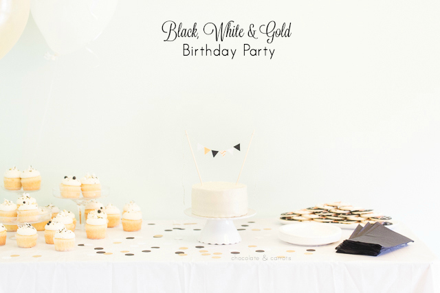 Black White & Gold First Birthday Party | chocolateandcarrots.com