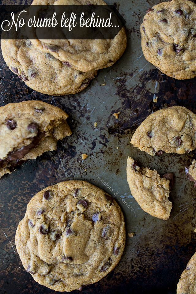 Nutella Stuffed Chocolate Chip Cookies | chocolateandcarrots.com