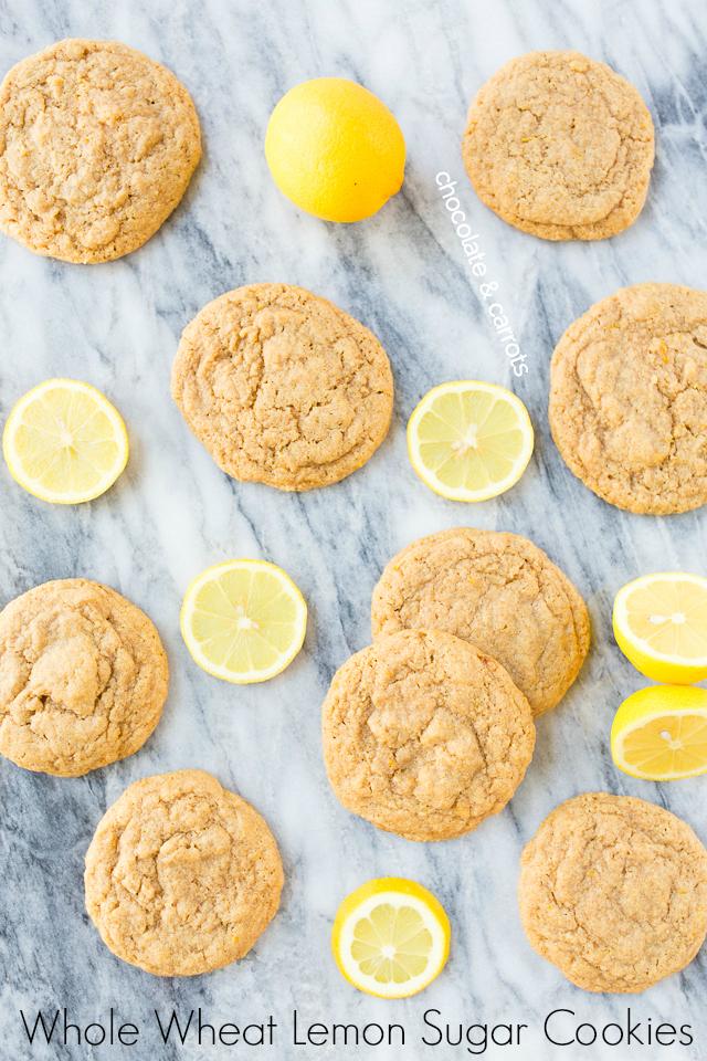 Whole Wheat Lemon Sugar Cookies | chocolateandcarrots.com