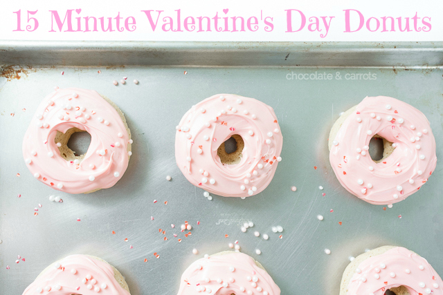 15 Minute Valentine's Day Donuts | chocolateandcarrots.com