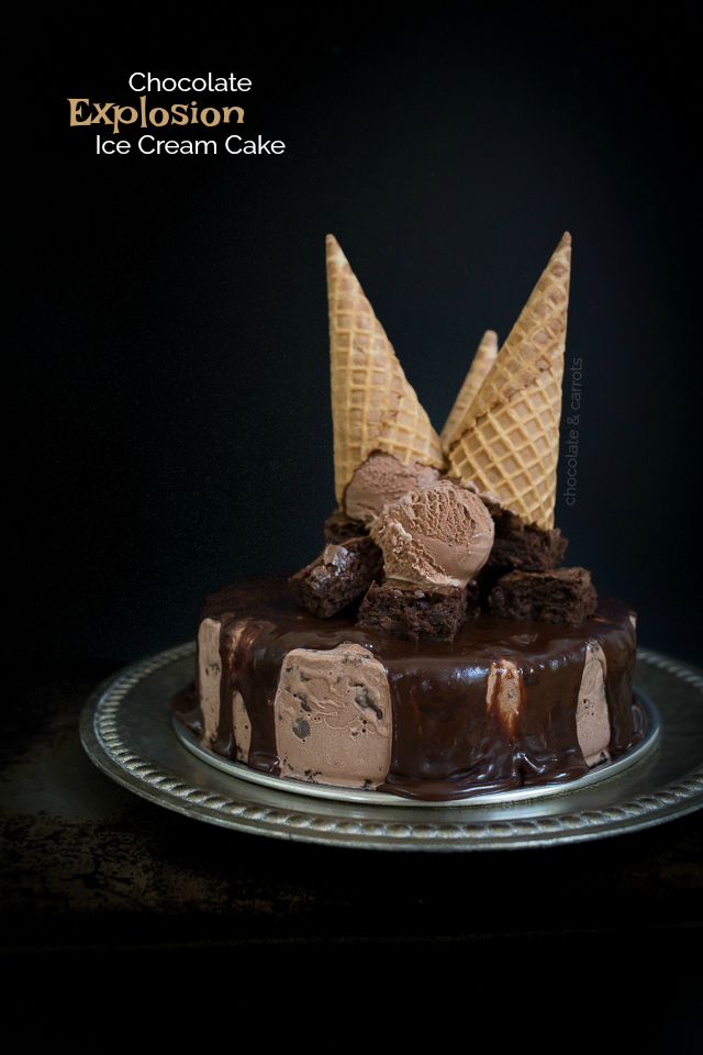 Chocolate Explosion Ice Cream Cake Chocolate Carrots