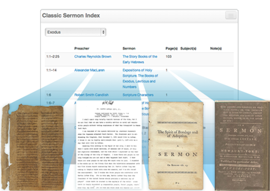 Classic Sermon Index compiles sermons from throughout Christian history
