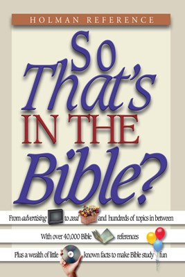 So That's in the Bible? (eBook)