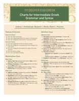 Charts for Intermediate Greek Grammar and Syntax