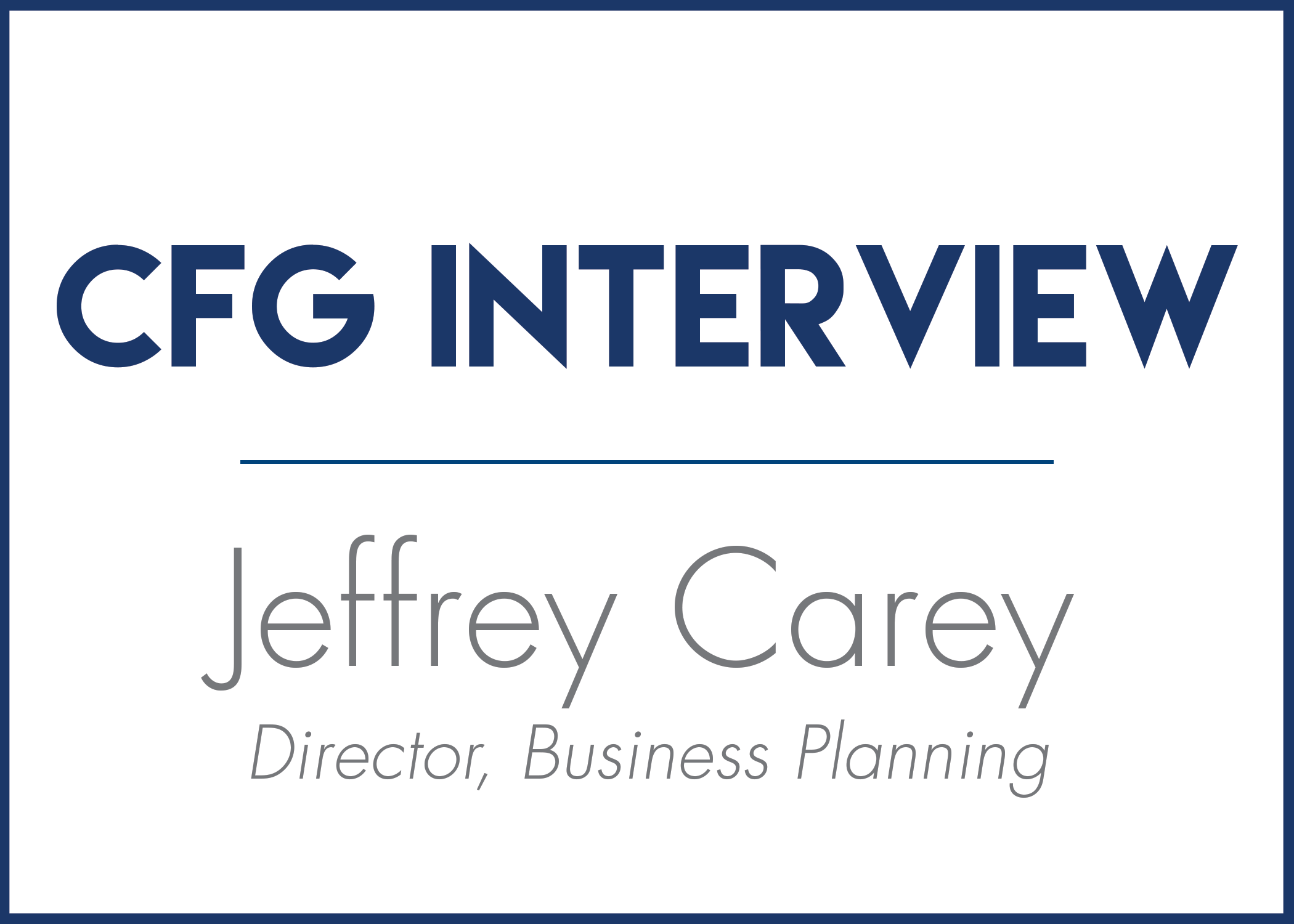 7 Questions with Jeffrey Carey
