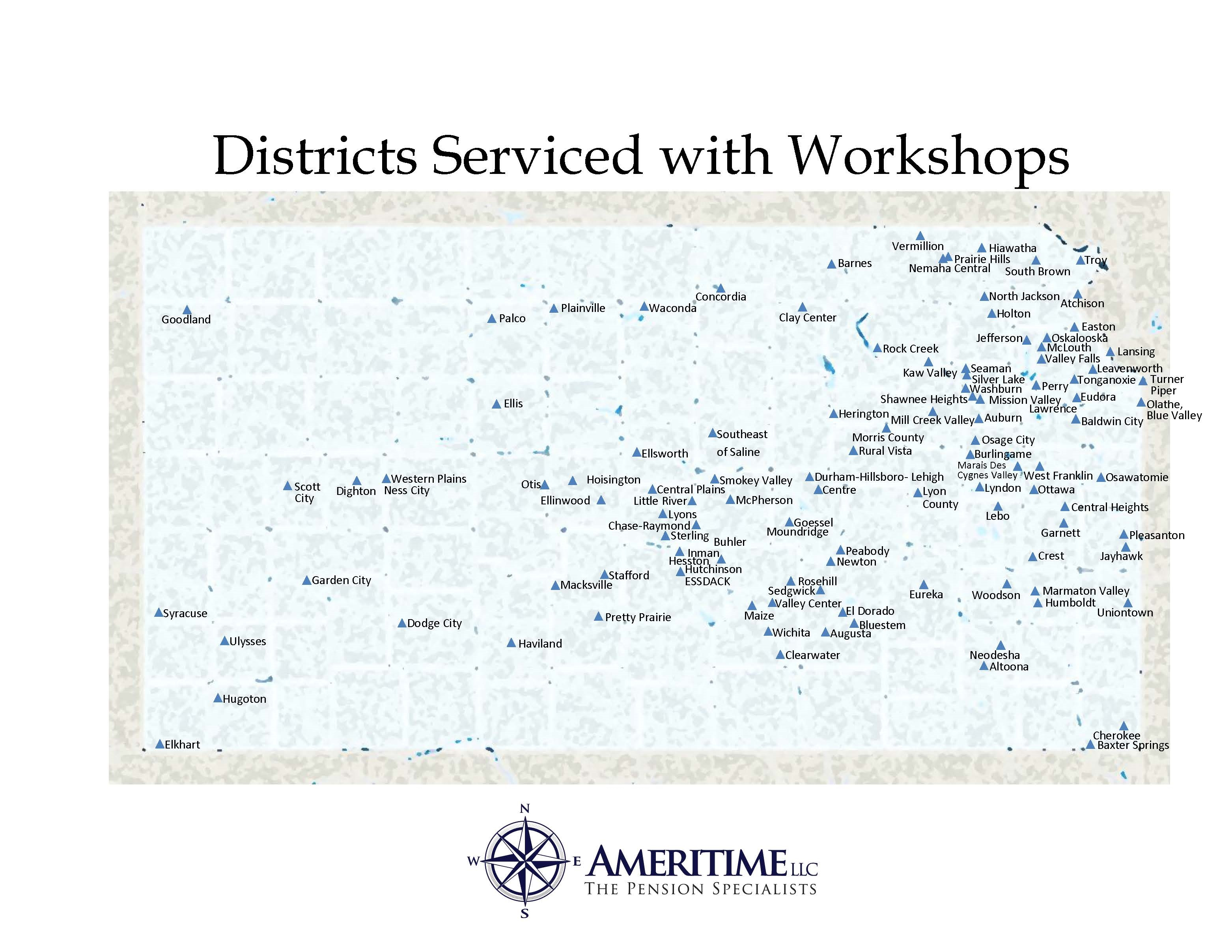 districts serviced