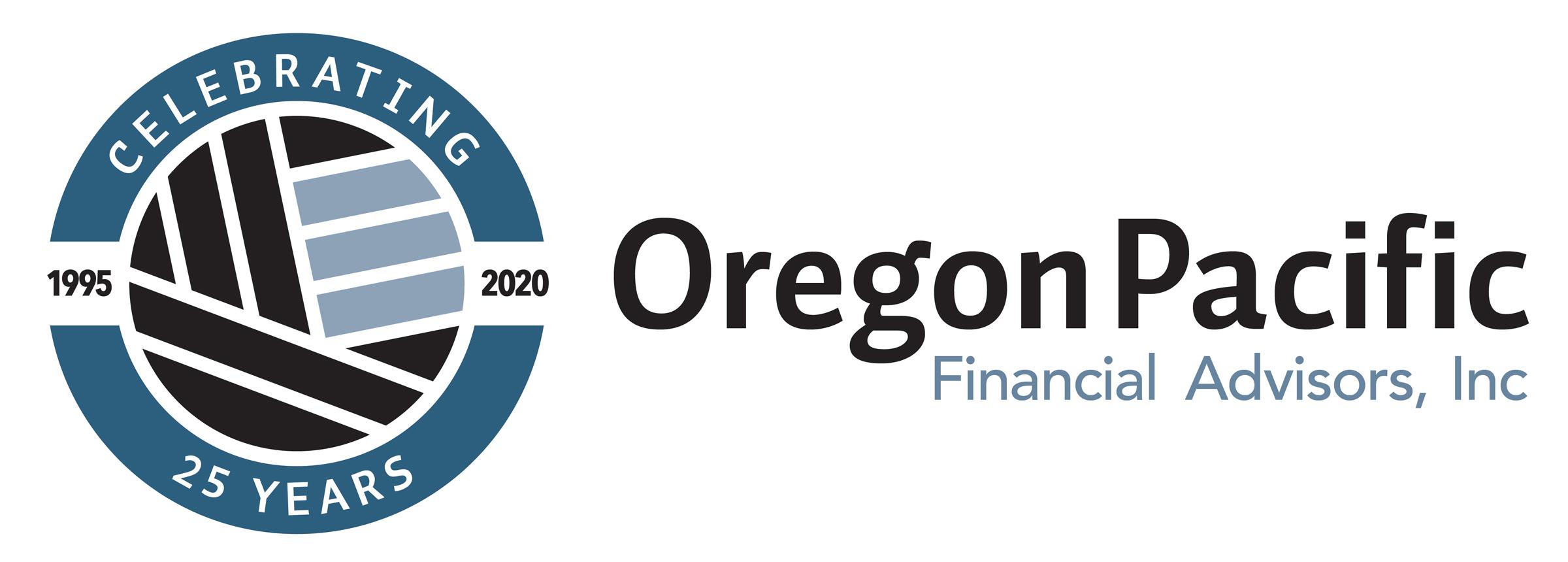 Oregon Pacific Financial Advisors 25th Anniversary Logo
