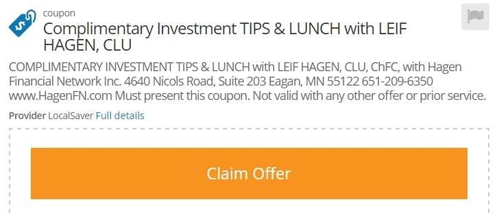 LUNCH WITH LEIF COUPON