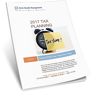 2017 Tax Planning Cover
