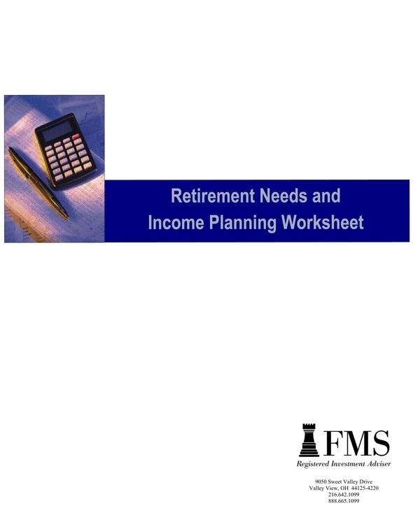Retirement Plan Documents – Retirement Worksheet
