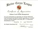 Marine Corps Appreciation Award