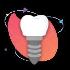 Um dos principais e mais comuns procedimentos. Utilizado para suprir a falta ou a danificação de dentes.