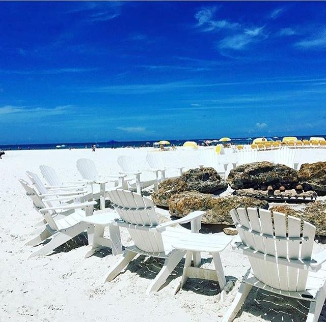How about this view on a Monday afternoon! Thanks to our guest @coreydylan1 for sharing this delightful photo of our fire pit at Tate Island Grill #☀️ #Sandpearl #sandpearlresort #clearwaterbeach #lovefl #liveamplified #beachvacation #tateislandgrill #firepit #visitflorida #sandandsun #sunshine #instagood #share