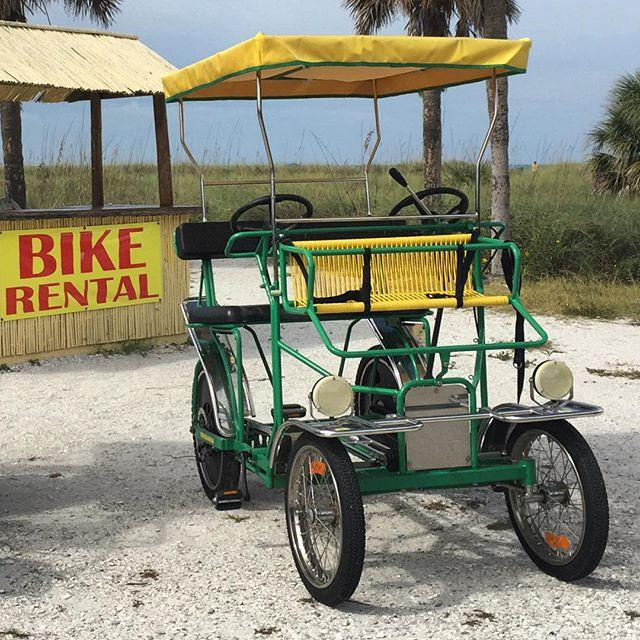 About to hop on this sweet little surrey bike at Fort De Soto Park. Ready to tackle the winding 7 mile trail! 💪  #LiveAmplified #SurreyBike #BestFamilyBeach