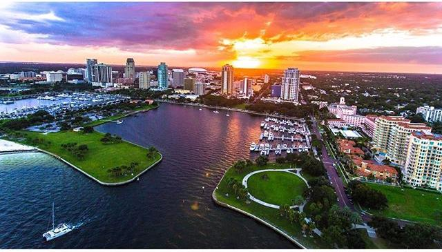 Sunset over Downtown St. Petersburg