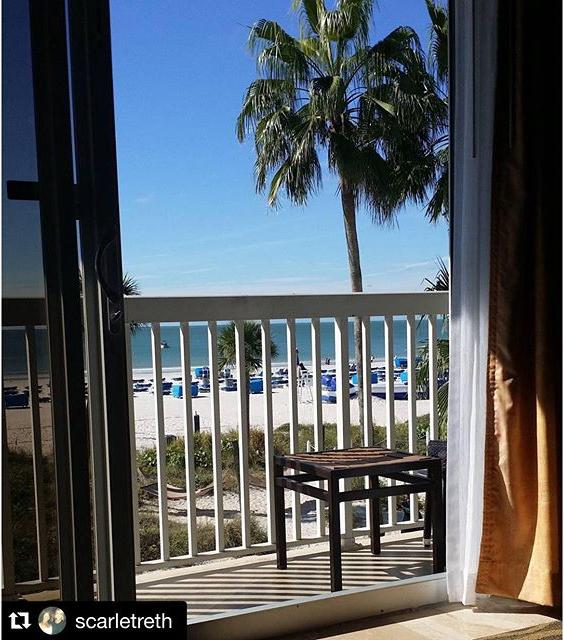 There's nothing like waking up with a 🌴view☀️! #JustLetGo #twresorts #beachfront #gulfofmexico #beach #relaxation #clearskies #stpetebeach #loveFL #roomwithaview #vacation #liveAmplified