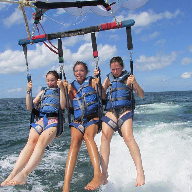 the reality of parasailing😂
