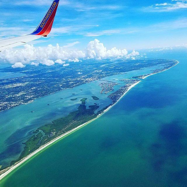 Did some flying over Clearwater Beach. 😍 #Southwest #ClearwaterBeach #Clearwater #LoveFL #Tampa #TPA #tampainternationalairport #itsafloridathing #iloveflying #NonDisney #Bluesky #florida