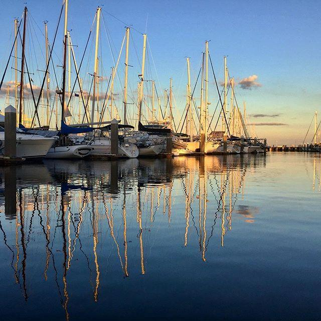 #marina #sunset #reflection #boats #sailboat #liveaboard #stpete #tampabay #harboragemarina #fun_in_florida #hashtagflorida #igersstpete #lovefl #liveamplified #optoutside #pureflorida #roamflorida #staysaltyflorida #upsideofflorida #waterlust