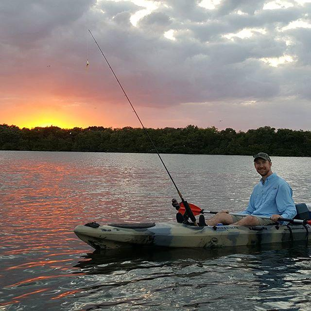 #kayak #fishing #tampabay #Florida #nofilter #sunset