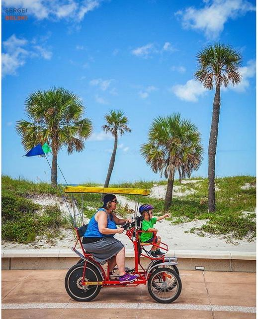 Rental bicycle fun for the whole family :)