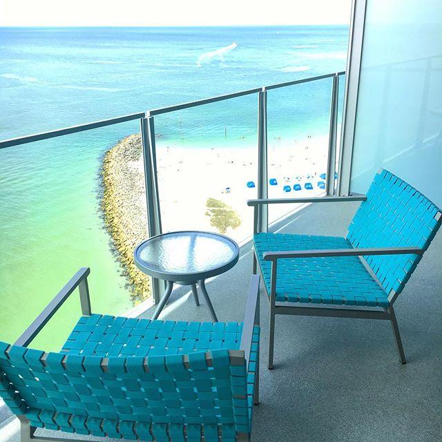 This view will do quite nicely  #opalsands #opalsandsresort #clearwaterbeach #florida #thatviewtho #vacation #visitflorida #tourism #lovefl #vspc #liveamplified #beachresort #luxury #vacationspot #destination #letsgo #instatrip #instagood #instavacation #happy #smile #relax #enjoy #enjoylife #balconyview