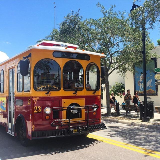 Take the Jolley Trolley from Clearwater Beach 🌴 to Tarpon Springs 🇬🇷 for just $5 round trip! Makes for a great day trip to explore this town's rich culture. . . #tarponsprings #jolleytrolley #clearwaterbeach #daytripper #greekculture #LiveAMPlified #LoveFL #cleargram #igersstpete