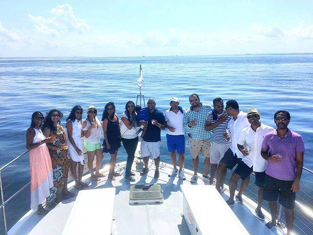 Milestone birthdays celebrated in style aboard the Smooth C's 🎉 #Happy40th #birthdayparty #yachtcharter #StPete #Tampa #USCGcertified