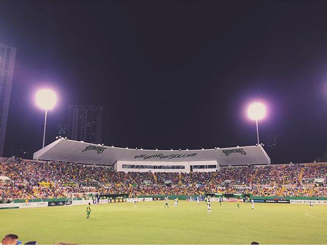 Rowdies tied 1-1 with less than 20 min left. Fireworks display followed by Flo Rida show on the field 👍🏻 . Who was at the game with us? . . #SunShinesHere #igersstpete #lovefl #liveAmplified #instaburg