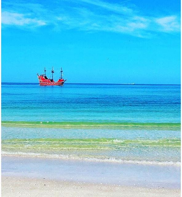 Obligatory Clearwater Beach pirate ship pic #cleargram #beach #tampagram #igers_tampa #clearwater #boat #ship #lovefl #igfl #explorida #blue #clear #staysalty
