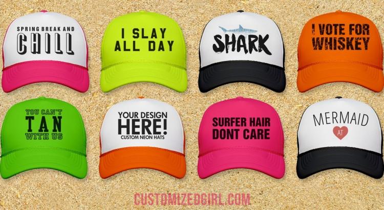 Custom Trucker Hats For Spring Break