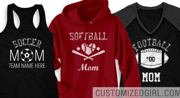 Rhinestone Mom Shirts