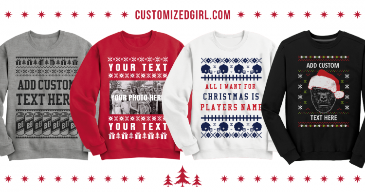 Custom Christmas Sweaters.Tis The Season To Be Ugly With Custom Ugly Sweaters