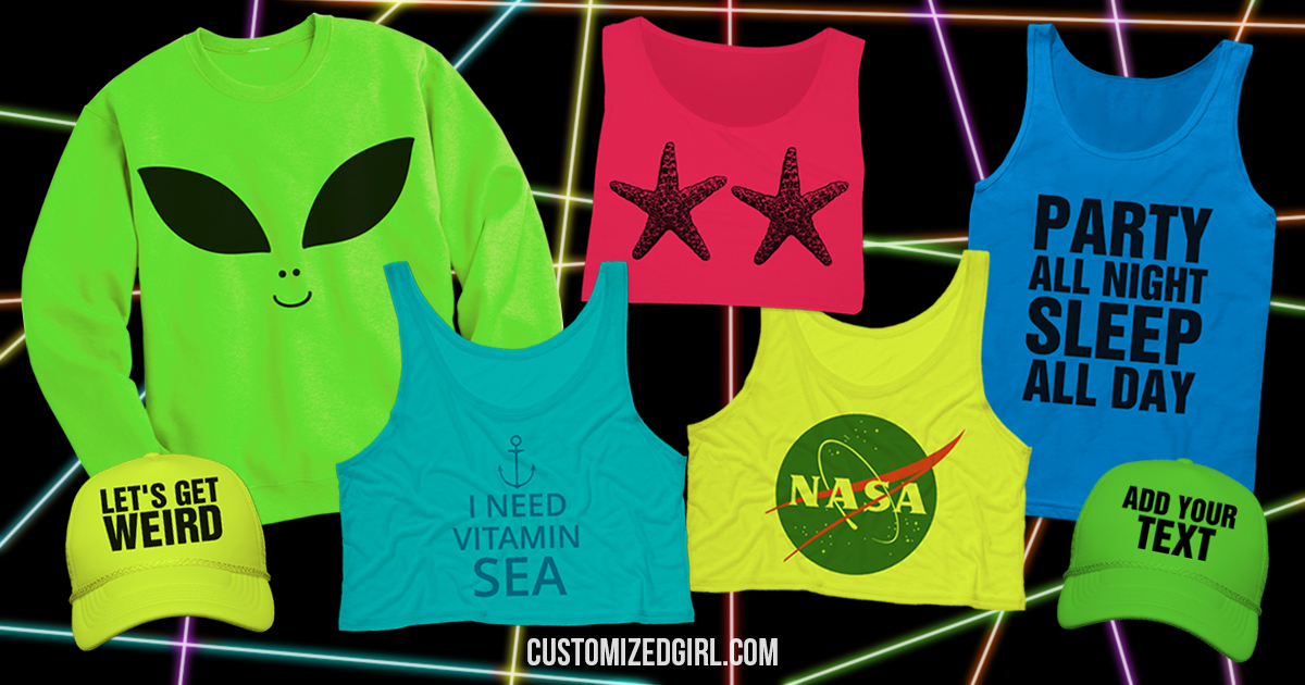 3270f3e1647d2 Be Bold and Bright With Custom Neon Shirts - CustomizedGirl Blog