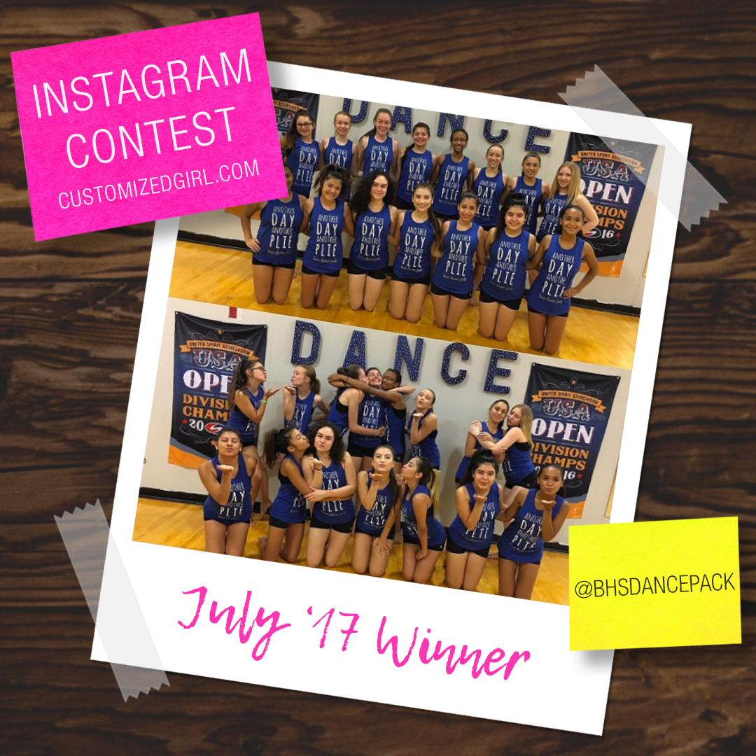 July 2017 Selfie Instagram Winner!